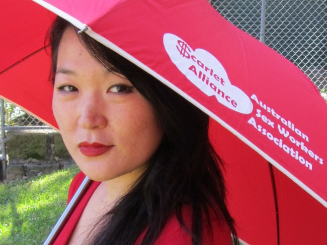 Jules Kim, the chief executive of peak sex workers organisations, the Scarlet Alliance. Photo: Supplied