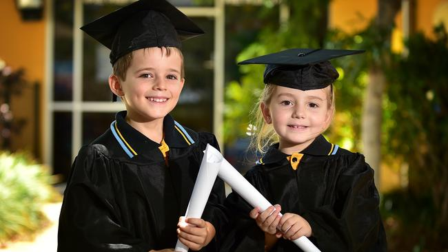 Townsville Grammar's youngest students will be graduating from Pre-Prep. Patrick Ahearn 5 and Victoria McQueen 4.