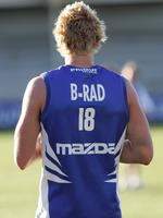 Brad Moran was the first Kangaroo to wear No.18 after Wayne Carey - for three games in 2006-07. Then he left for Adelaide where he inherited Carey's No.2.