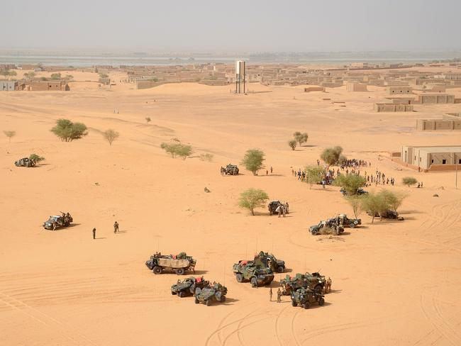 Conflict zone ... French soldiers taking position in the vast deserts of northern Mali which has fallen under control of ethnic Tuareg separatists.