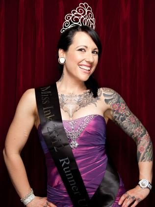 Bold and beautiful on show at the 2014 miss ink sydney for Miss tattoo pageant