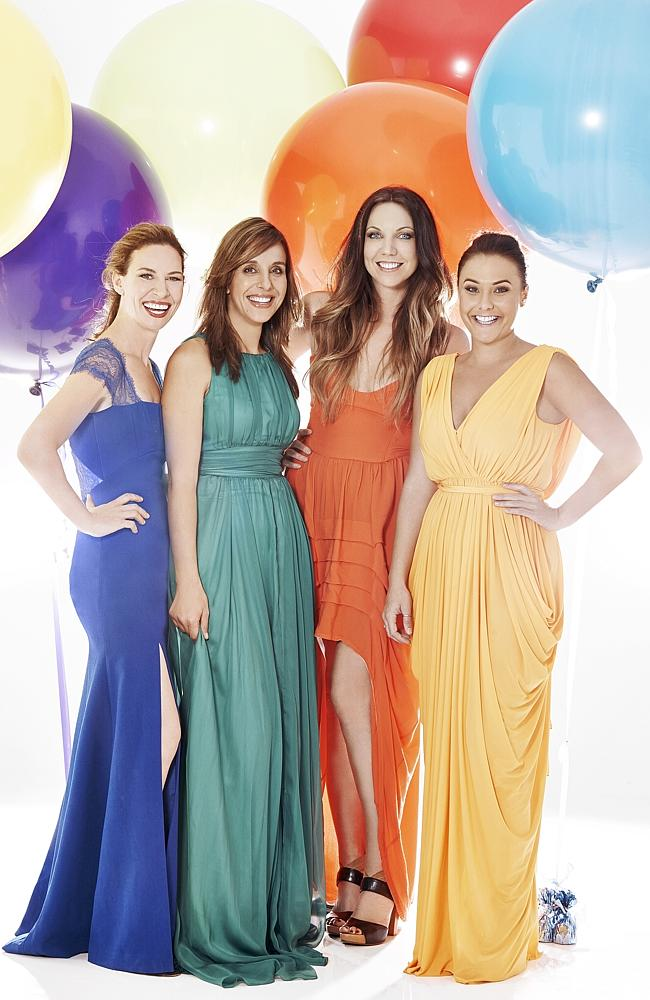 Cook off ... My Kitchen Rules' grand finalists Bree May and Jessica Liebich are against Chloe James and Kelly Ramsay.