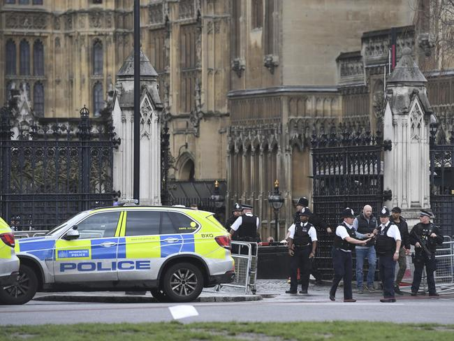 The alleged assailant has been shot by police. Picture: Victoria Jones/PA via AP