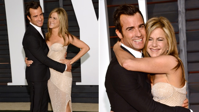 Jen and Justin at The Oscars in 2015. Photo: Supplied