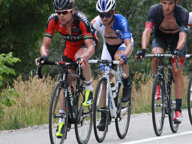 Cadel Evans leads a group of riders during the sixth stage of the Tour of Utah earlier this month.
