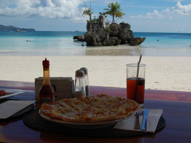 Meal with a view. Picture: Jeff Tollesfon