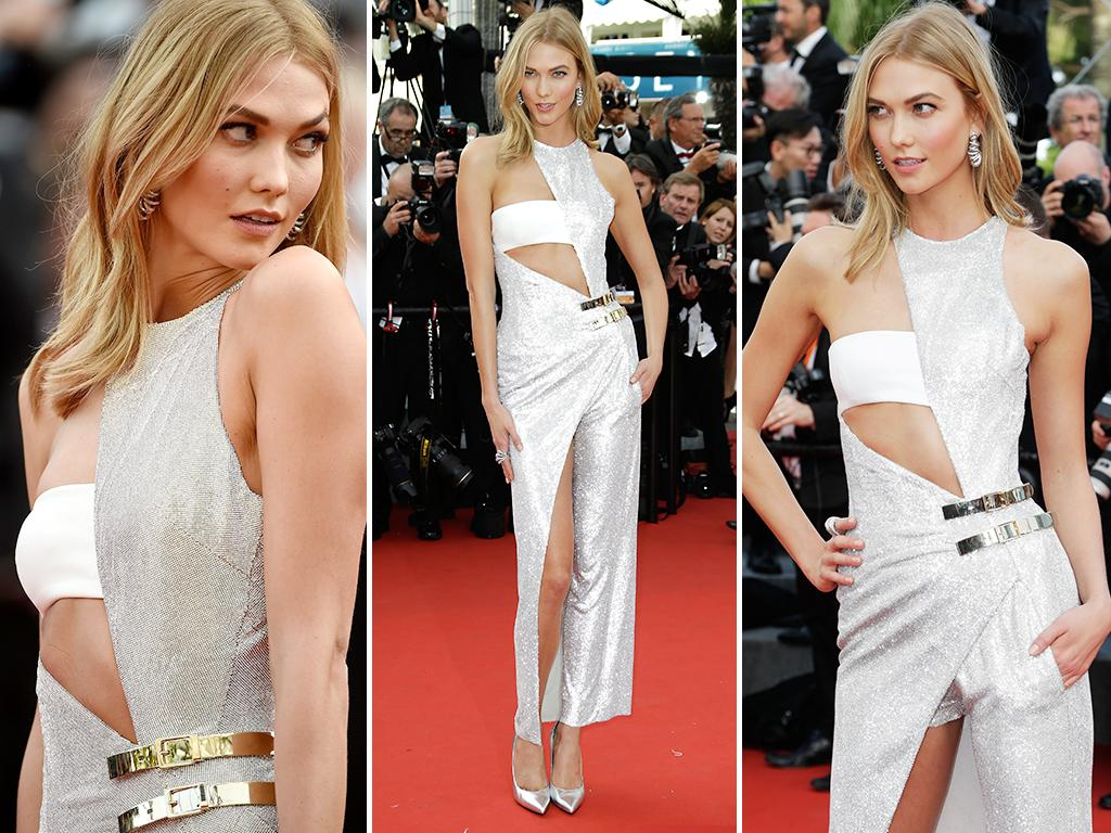 Karlie Kloss attends the opening ceremony and premiere of 'La Tete Haute' ('Standing Tall') during the 2015 Cannes Film Festival. Picture: Getty