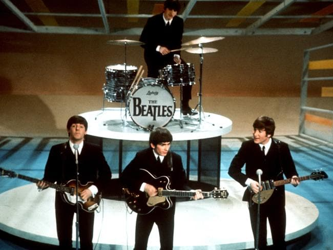 Legends ... The Beatles perform on the 'Ed Sullivan Show' in New York, in this Feb. 9, 1964, file photo. Picture: AP
