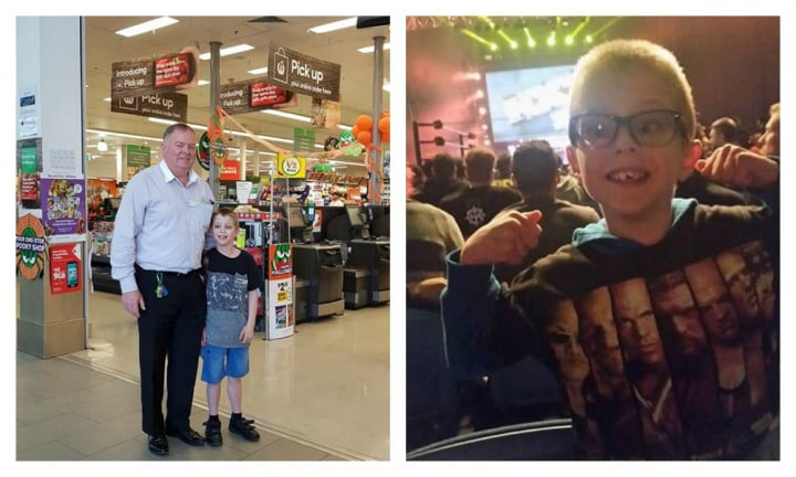 'Huge thank you to Woolies for allowing our autistic son to 'work' there'