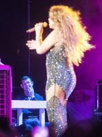 James Packer enjoys his girlfriend Mariah Carey's concert from the backstage at Live Park Amphitheater in Israel. Picture: Ella Pellegrini