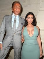 Fashion designer Valentino Garavani and Kim Kardashian attend the Valentino show as part of Paris Fashion Week - Haute Couture Fall/Winter 2014-2015. Picture: Getty