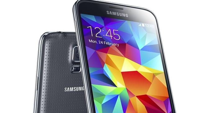 Samsung's new Galaxy S5 has a heart rate sensor under the camera.
