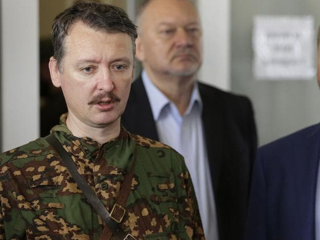'Enemy, terrorist and criminal' ... Rebel military chief Igor Strelkov at a press conference in Donetsk on July 12, 2014. Picture: Max Vetrov