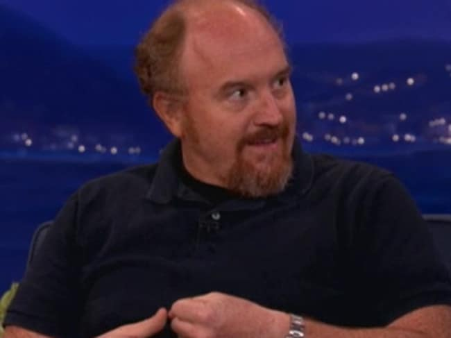 Divorced dad ... Comedian Louis CK shared his compelling philosophy about smartphones with Conan O'Brien.