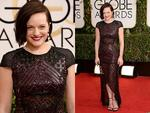 Golden Globes 2014 Red carpet arrivals at the The Beverly Hilton: Mad Men's Elisabeth Moss. Picture: Getty