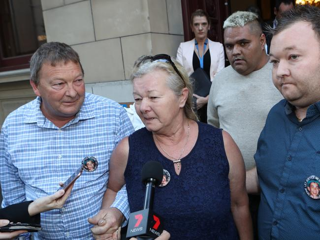 """The family of Ricky Balcombe said Monday was the """"best day"""" in 22 years. Picture: David Crosling."""