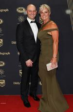 Todd and Lisa Greenberg during the 2017 Dally M Awards at The Star, Sydney. Picture: Brett Costello