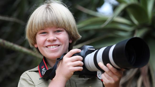 Chip off same block ... Robert Irwin, the 12-year-old son of late wildlife conservationist Steve, looks and acts like his dad. Picture: Nigel Wright / Network Ten / ITV Studios