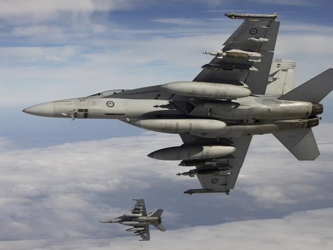 A series of mistakes resulted in aircraft from the United States, Britain, Denmark and Australia killing an estimated 83 Syrian troops in strikes after their base was mistaken for an IS terror group camp. Picture: Supplied.
