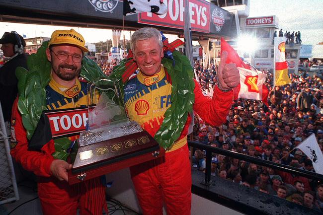 Bowe and Dick Johnson celebrating their 1994 Bathurst 1000 win.