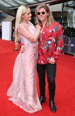 Alli Simpson and Conrad Sewell arrive on the red carpet for the 31st Annual ARIA Awards 2017 at The Star on November 28, 2017 in Sydney, Australia. Picture: Richard Dobson