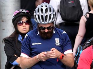 Cyclists on Phones