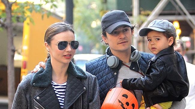 Miranda Kerr, Orlando Bloom and their son Flynn. Picture: Supplied