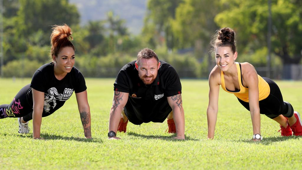 Al and Zuzana Nuttall from Peak Performance 365 and Helen Koka from Body Beyond Belief will host the 10,000 Burpees for Missy Challenge on Saturday at Tiger Park, Manunda. PICTURE: MARC MCCORMACK