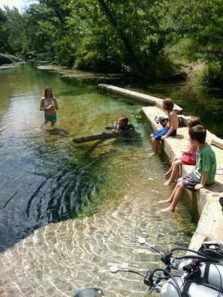 A lot of visitors don't make the dive. Picture: Jacob's Well, Facebook
