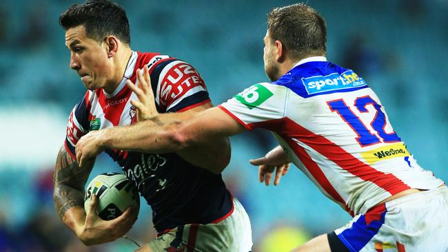 Sonny Bill Williams was a solid contributor for in the Roosters' win over the Knights.