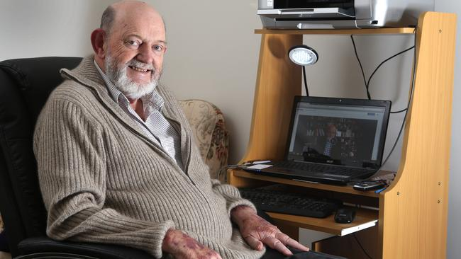 Wanting to go with dignity ... Euthanasia Party supporter Max Bromson, who is dying of cancer.