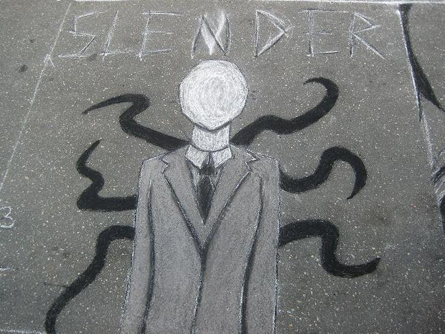 Violent online character ... The Slenderman.