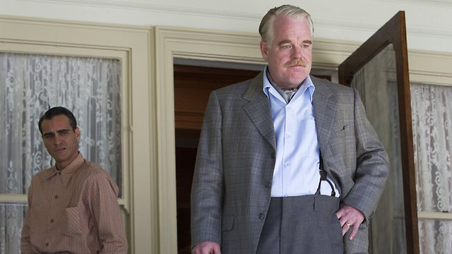 Prodigious talent... Hoffman opposite Joaquin Phoenix in the 2012 movie, The Master. Picture: AP