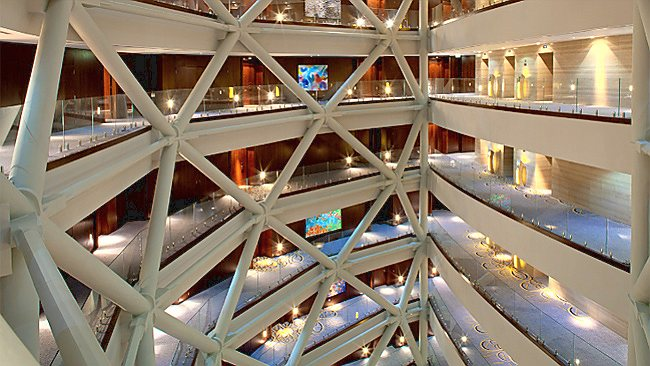 Inside the Capital Gate building. Picture: Supplied
