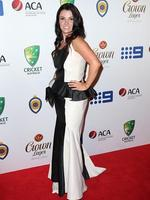 Emma Doherty on the red carpet arriving at the 2014 Allan Border Medal held at Doltone House at Hyde Park.