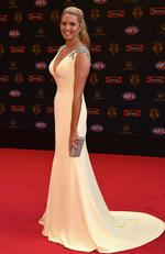 Catherine Riewoldt the wife of Nick Riewoldt of the Saints poses ahead of the 2017 Brownlow Medal at Crown Entertainment Complex on September 25, 2017 in Melbourne, Australia. Picture: Quinn Rooney/Getty Images