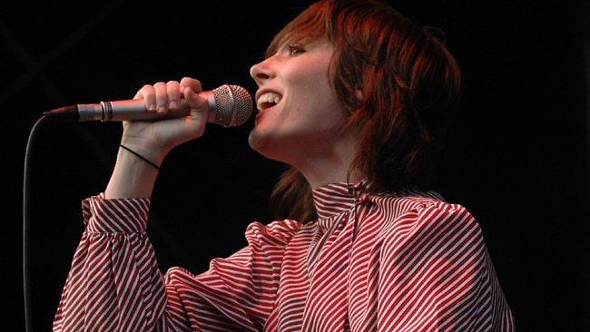 Sarah Blasko performing at Home Bake, The Domain, Sydney. Pic. Simon Bullard