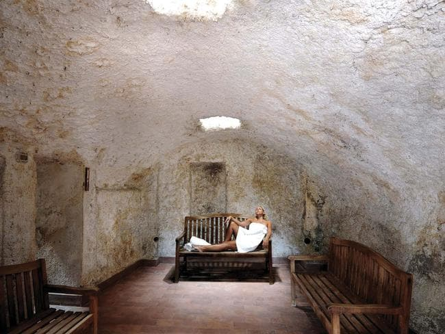 The 'relaxation' chamber would be fine — as long as you're not claustrophobic underground. Picture: Ester Colutta
