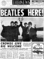 """""""The News"""" newspaper front page from 12 Jun 1964. The Beatles in Adelaide. one 1960s. Picture: News Corp"""