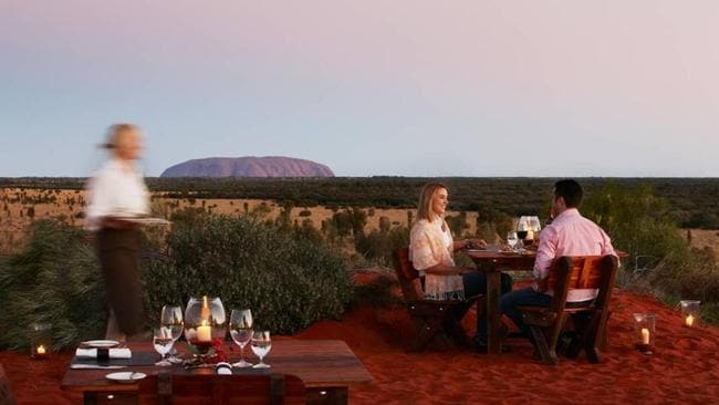 Ayers Rock Resort at Uluru caters to luxury travellers with experiences including fine dining under the outback sky.