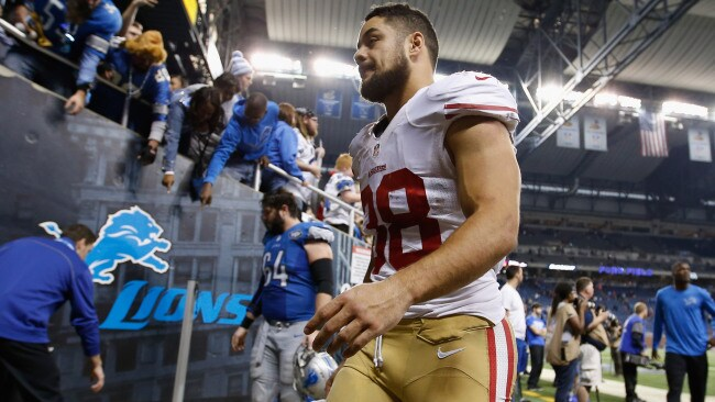 Hayne during his time in the NFL (Photo by Gregory Shamus/Getty Images)