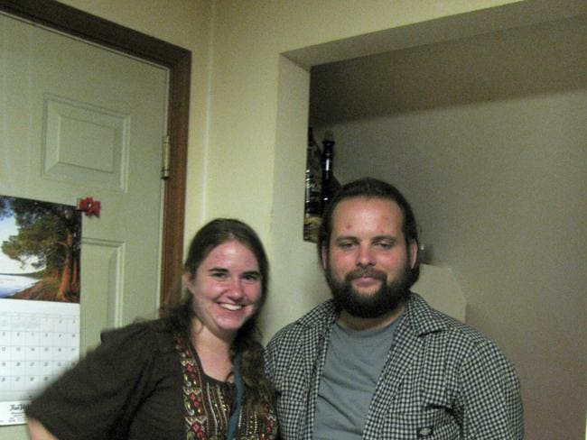 Captured ... Caitlan Coleman and Joshua Boyle in a photo provided by their family.