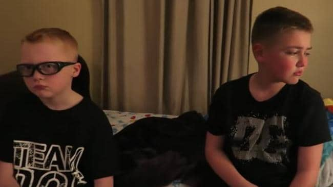 Immediately after the prank, neither Cody nor Alex seem to think there's anything to laugh about. Picture: YouTube