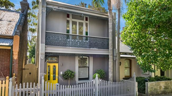 This terrace at 8 Ferris St, Annandale went for $110,000 above reserve. NSW real estate.