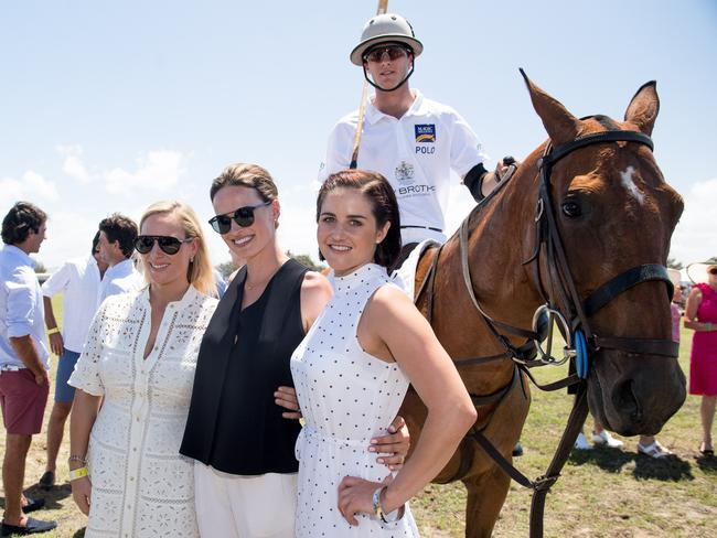 Pacific Fair Magic Millions Polo with Francesca Cumani, Zara Phillips and Michelle Payne. Picture: Ken Butti
