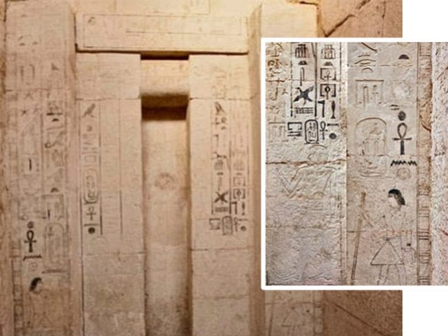 The final resting place of Shepseskaf ankh, 'Priest of Magic' and Head of Physicians of Upper and Lower Egypt in the Fifth Dynasty of the Old Kingdom. Pictures: Egyptian Ministry of Antiquities