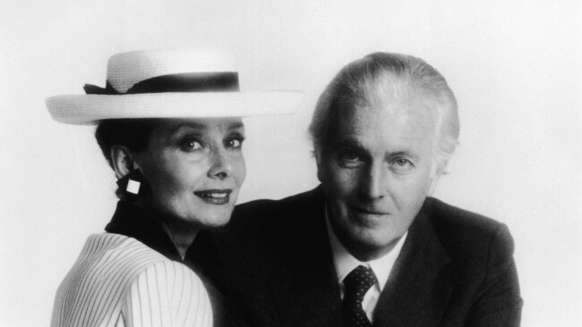 Hubert de Givenchy and Audrey Hepburn in the mid 1980s. (Photo by Hulton Archive/Getty Images)