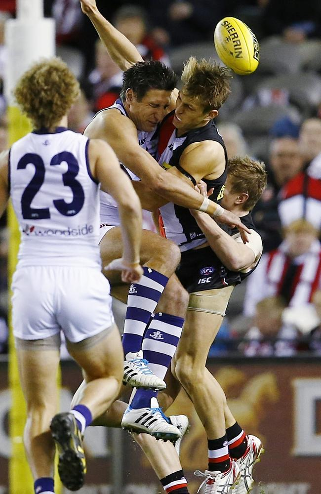 Sean Dempster was knocked out early in the first quarter. Picture: Michael Klein