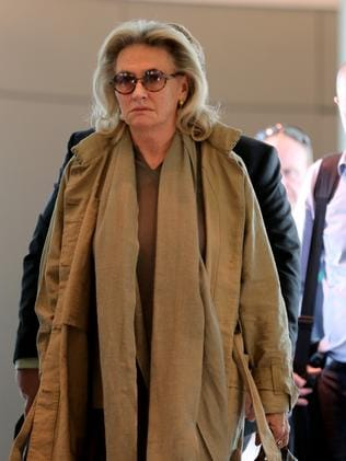 Jill Wran arrives at Sydney Airport from Brisbane this morning. Pic John Grainger