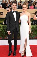 Alex Greenwald and Brie Larson attend The 23rd Annual Screen Actors Guild Awards at The Shrine Auditorium on January 29, 2017 in Los Angeles, California. Picture: Getty